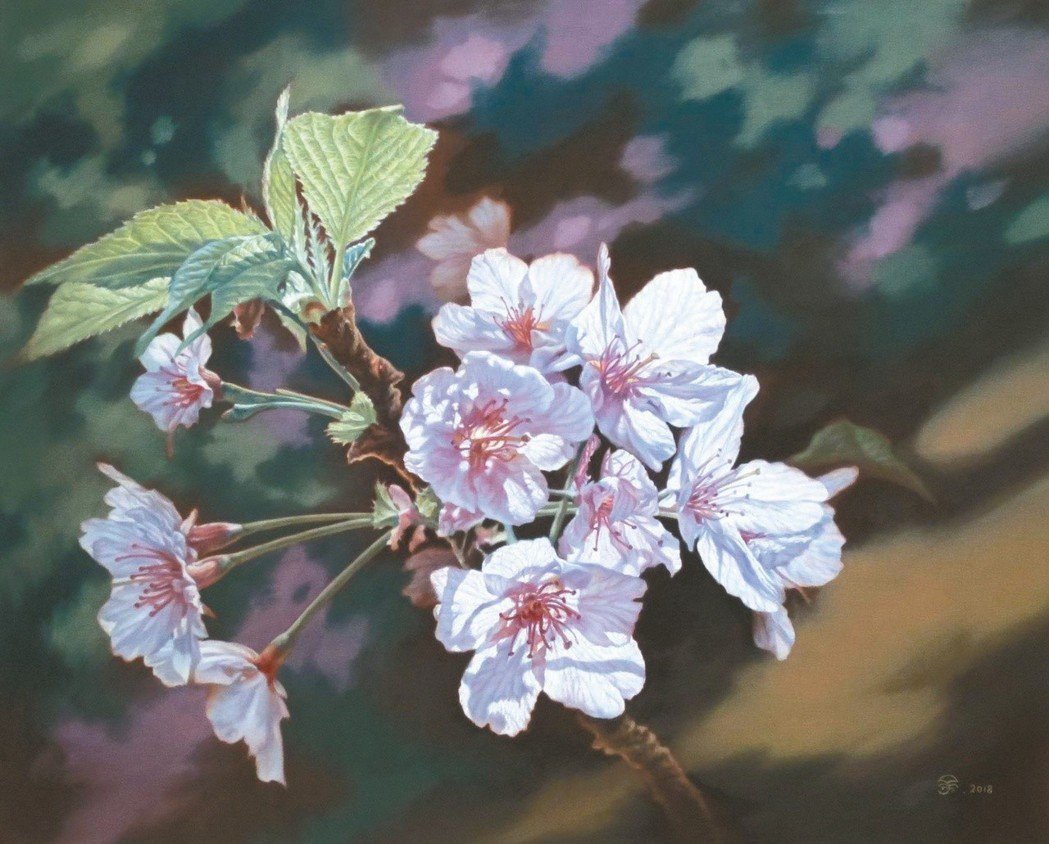 余廷彥油畫作品〈逆光〉