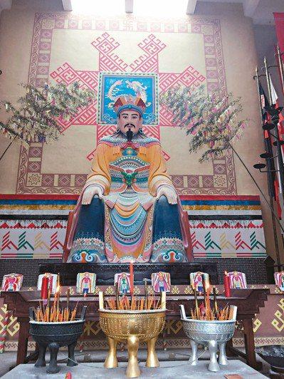 盤王塑像。
