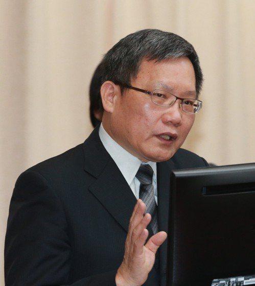 財政部長蘇建榮。 記者黃義書/攝影