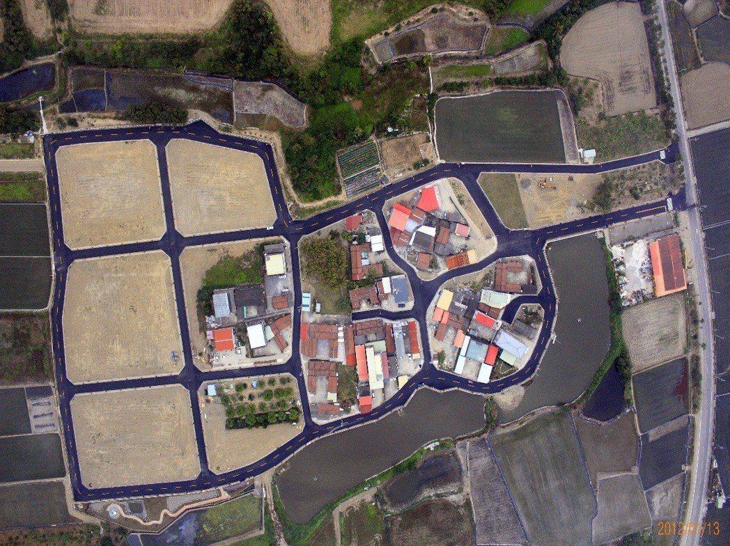 田區瓦磘農村社區土地重劃區-規劃後。  地政局 提供