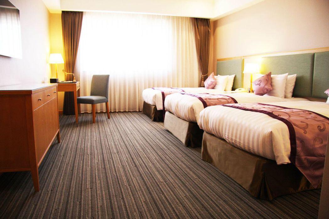 雅緻3人房。  富信大飯店 提供