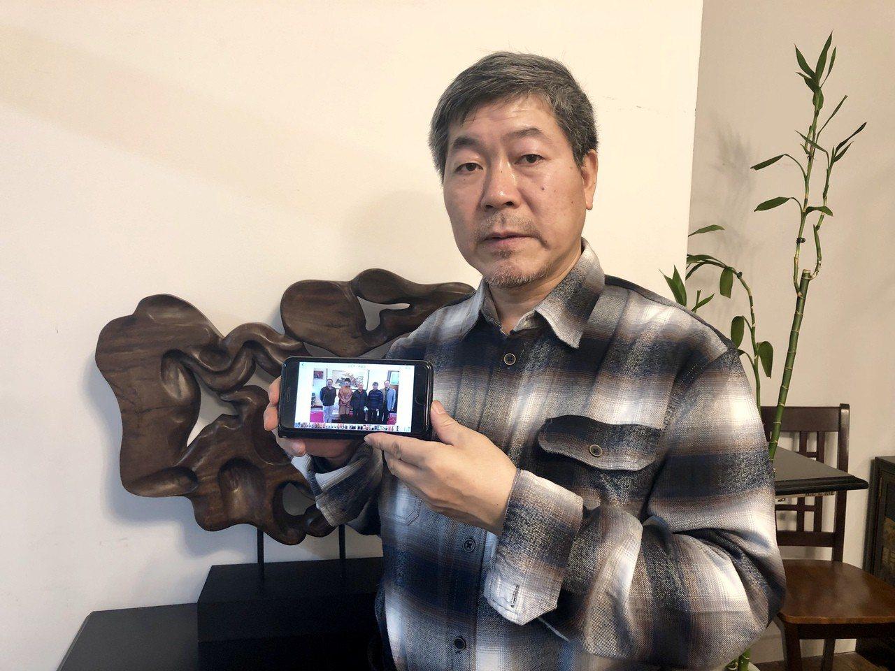 中國前副總理姜春云之前因一張照片被報定居美國,照片中的人出面澄清。記者朱蕾/攝影