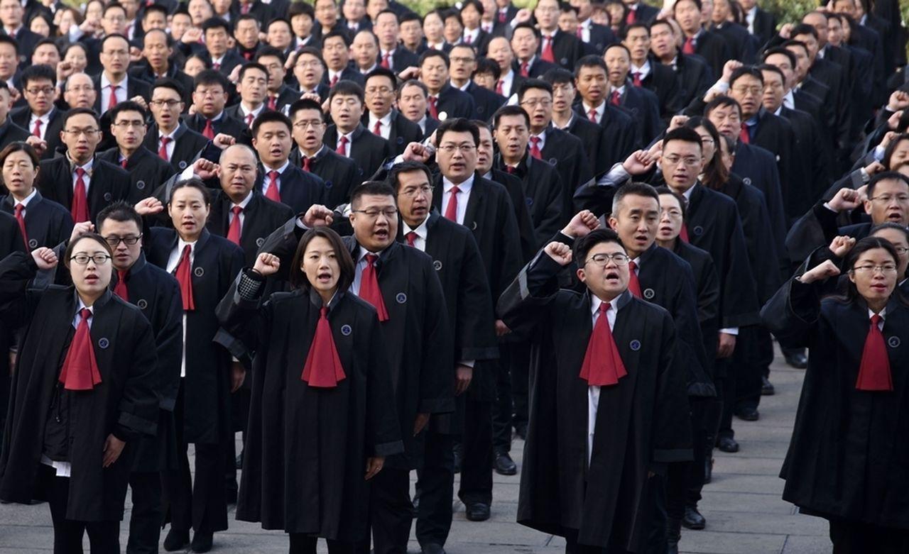 中國10萬律師集體宣誓,部分人權律師未被通知。圖/自由亞洲電台中文網