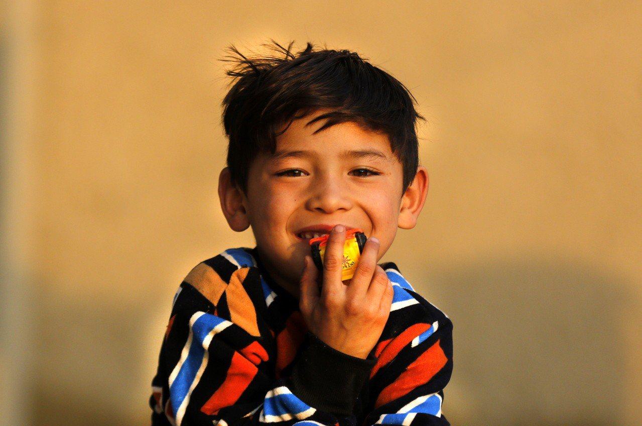 阿富汗7歲男童阿瑪迪(Murtaza Ahmadi)。 歐新社