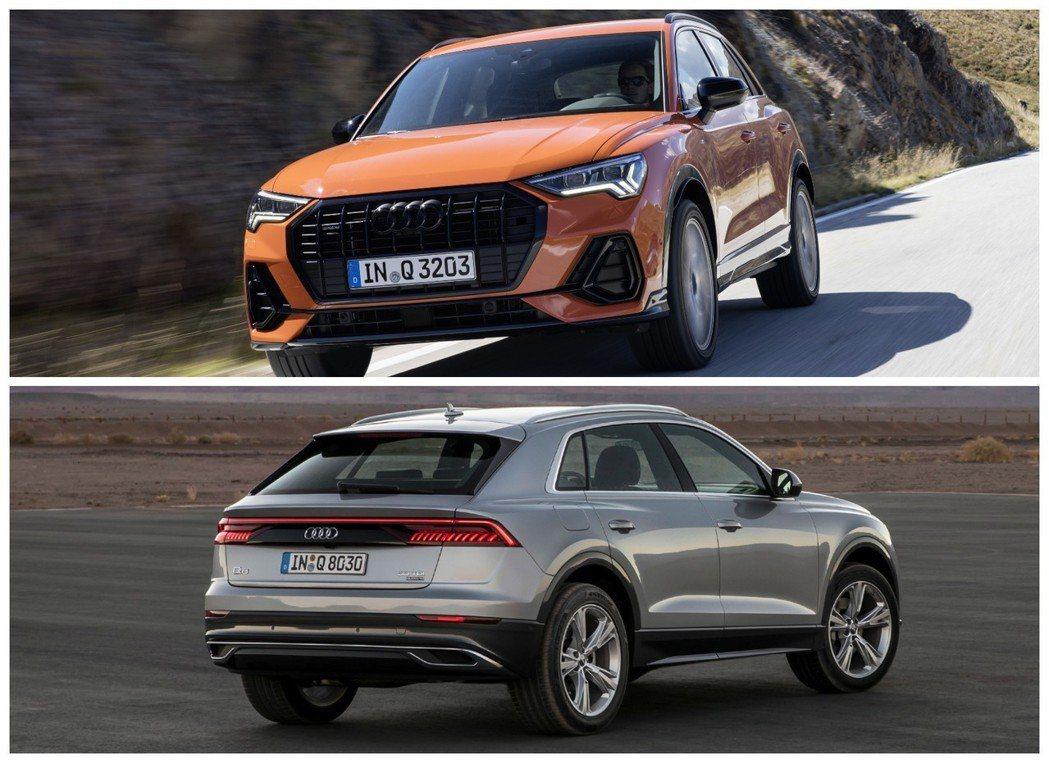 圖上為新世代Audi Q3,圖下為全新Audi Q8。 摘自Audi