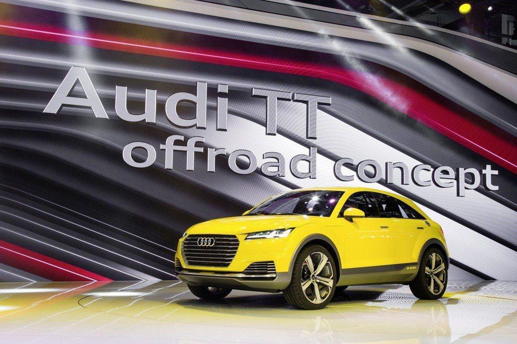 在四年前北京車展中所亮相的Audi TT Offroad Concept,被視為是量產版Q4的雛形。 摘自Audi