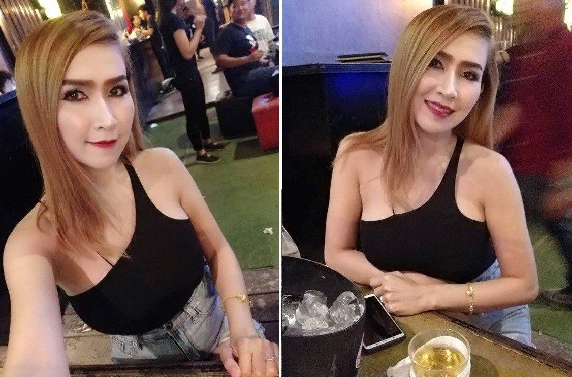 男子的老婆也在臉書上傳照片,分享上衣實穿的模樣。圖片來源/Facebook
