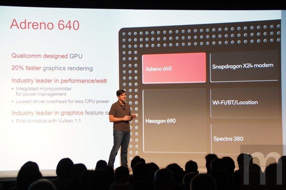 全新Adreno 640 GPU加入支援Vulkan 1.1,並且在每瓦效能再次...