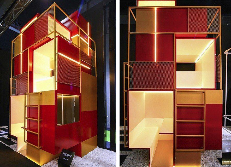 (圖)李肯設計的「Heart」於新中源陶瓷展位上展出,以關懷流浪者為設計出發點,...