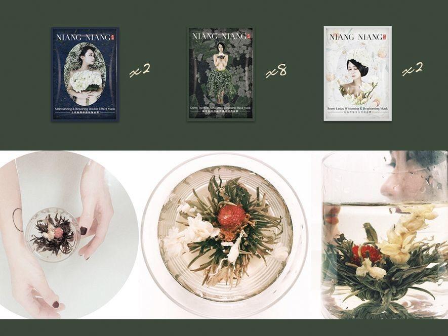 (圖)艾兒莎自創品牌《娘孃面膜》宣傳照(上圖)、商品形象照(下圖)