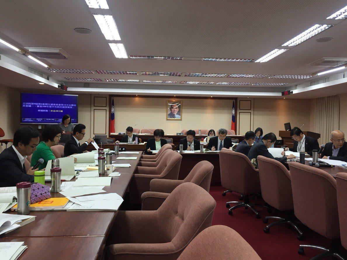 今日立法院交通委員會審查觀光局與鐵道局相關預算。記者洪安怡/攝影
