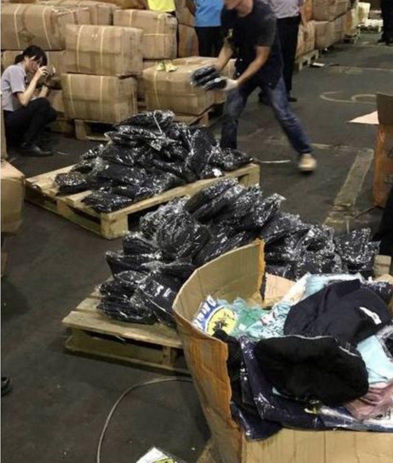 保三總隊第一大隊去年7月間查獲毒犯利用童裝藏毒,總計查獲127公斤k他命,涉案吳...