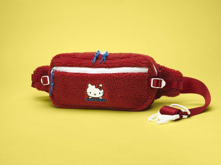 Converse與Hello Kitty聯名系列休閒腰包,1,180元。圖/Co...