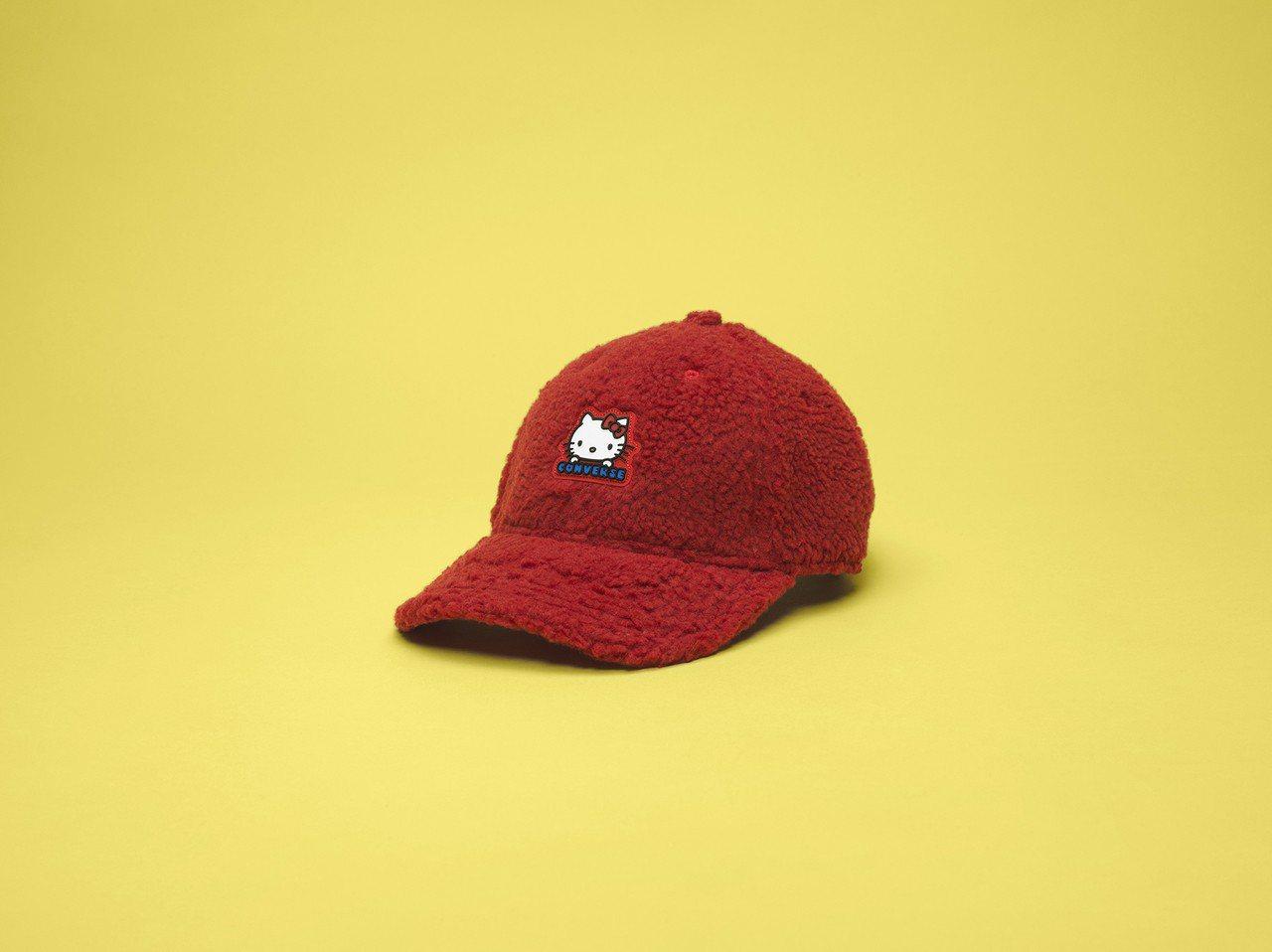 Converse與Hello Kitty聯名系列休閒帽,1,180元。圖/Con...