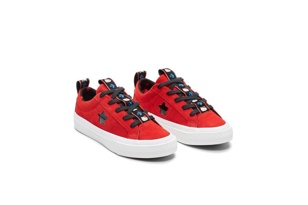 Converse與Hello Kitty聯名系列ONE STAR兒童鞋,1,88...