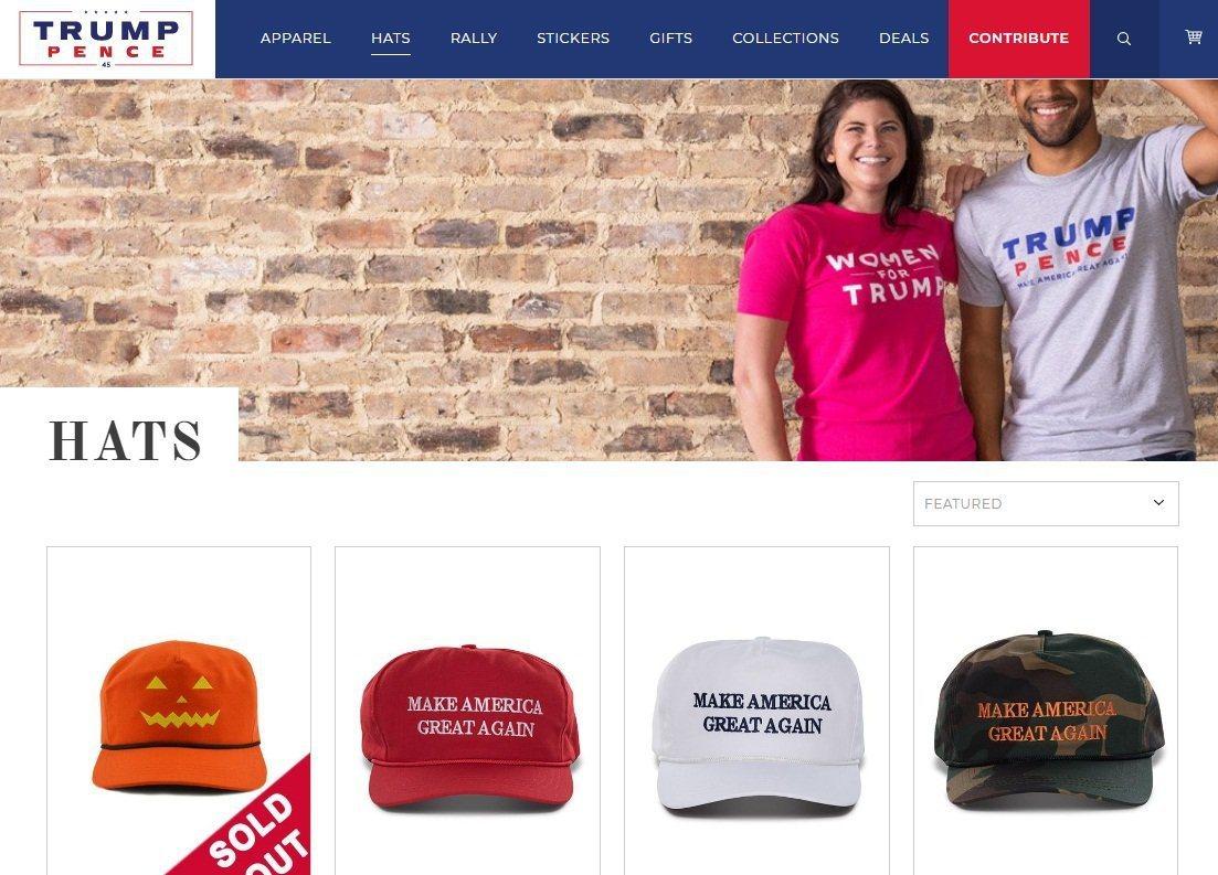 美國總統川普的公司網路商店(Trump Store),目前共販售268件商品,其...