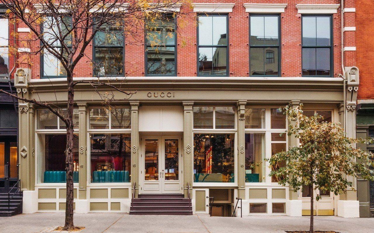Gucci Wooster 古馳書店大門。圖/Gucci提供