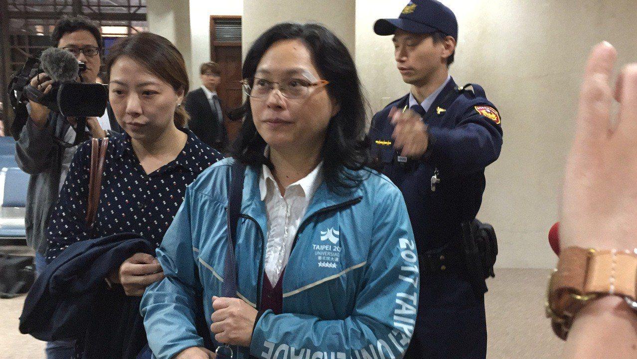 賴香伶今出庭。記者賴佩璇/攝影。