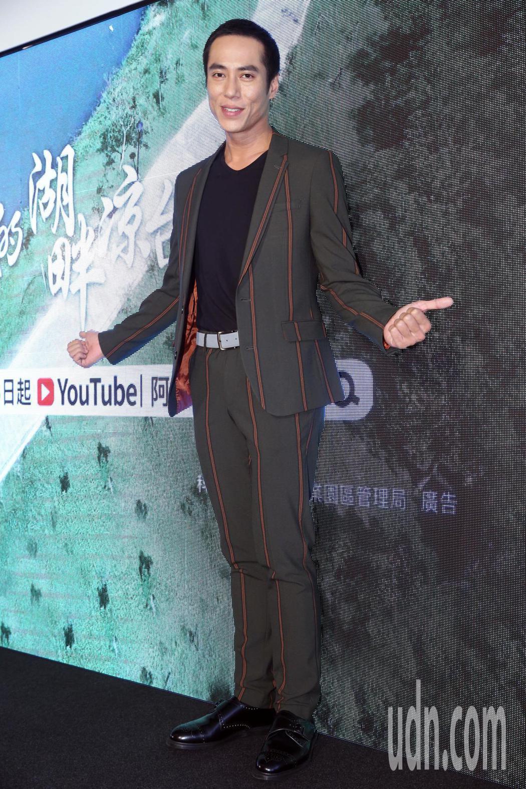 金鐘影帝莊凱勛跨刀演出實境秀,並出席推銷「移居南科」活動。記者林俊良/攝影