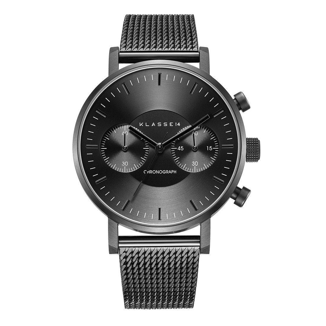 Volare Chronograph黑色米蘭帶計時腕表,11,480元。圖/KL...
