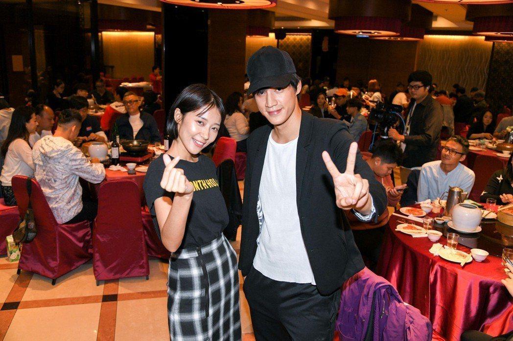 宏正(右)與劉宇菁戲中演一對戲外毫不來電  圖/三立提供