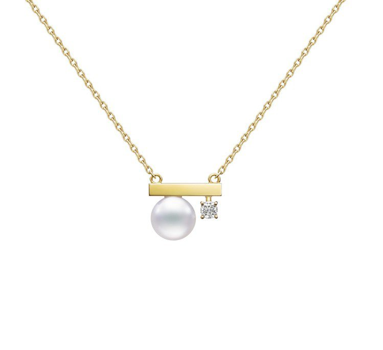 "TASAKI ""petit"" balance class 鑽石黃K金珍珠耳環,6..."