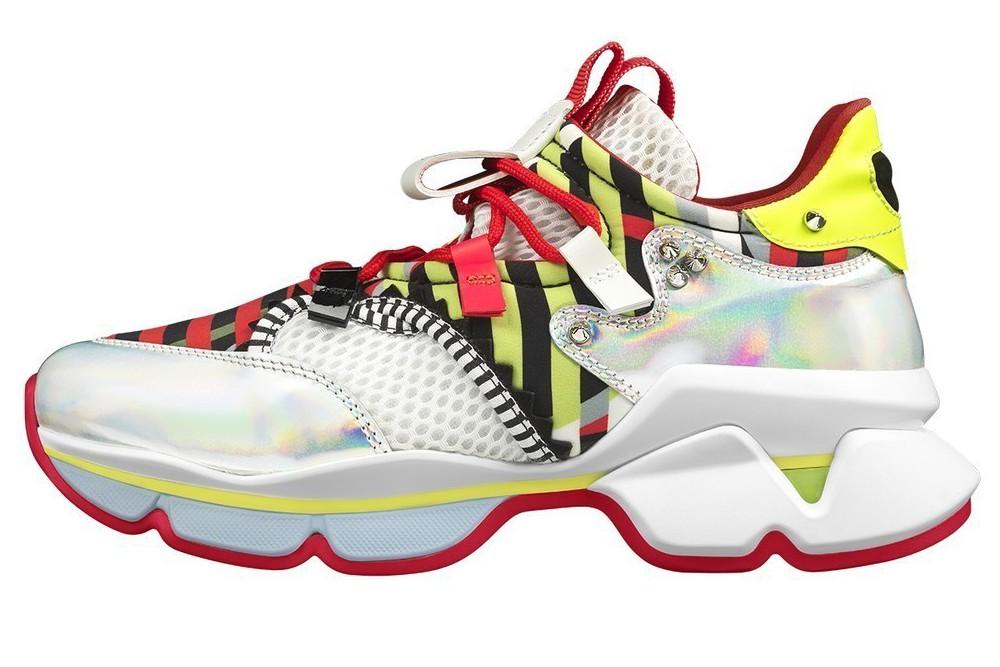 品牌首度推出Run Loubi Run系列運動鞋,售價43,900元。圖/Chr...