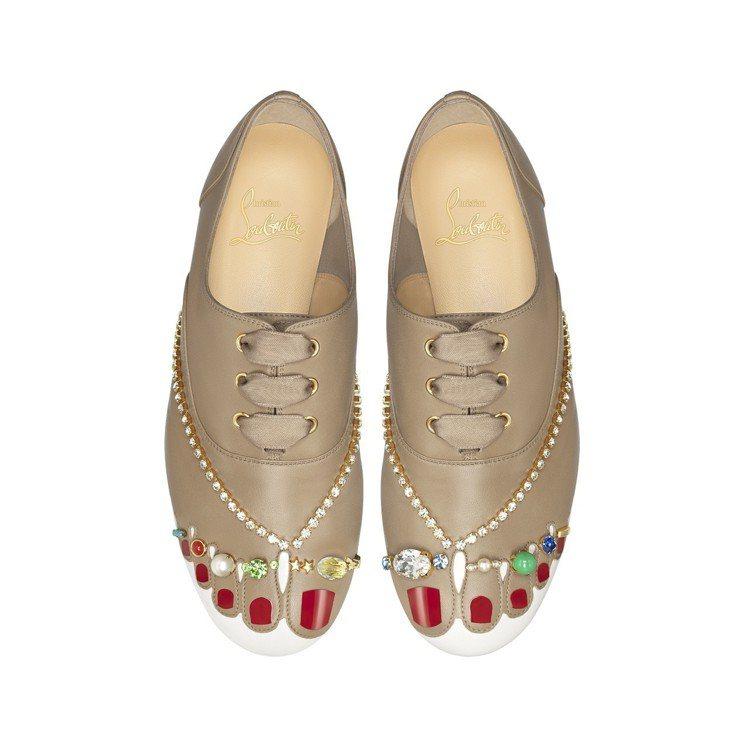 經典Nude系列平底鞋履,價格未定。圖/Christian Louboutin提...