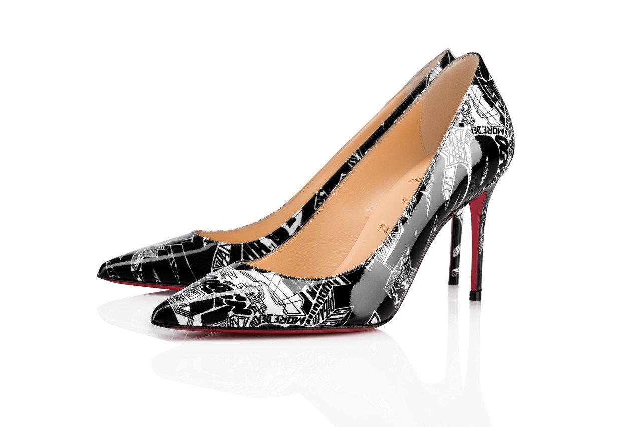 Nicograf系列塗鴉跟鞋,售價26,000元。圖/Christian Lou...