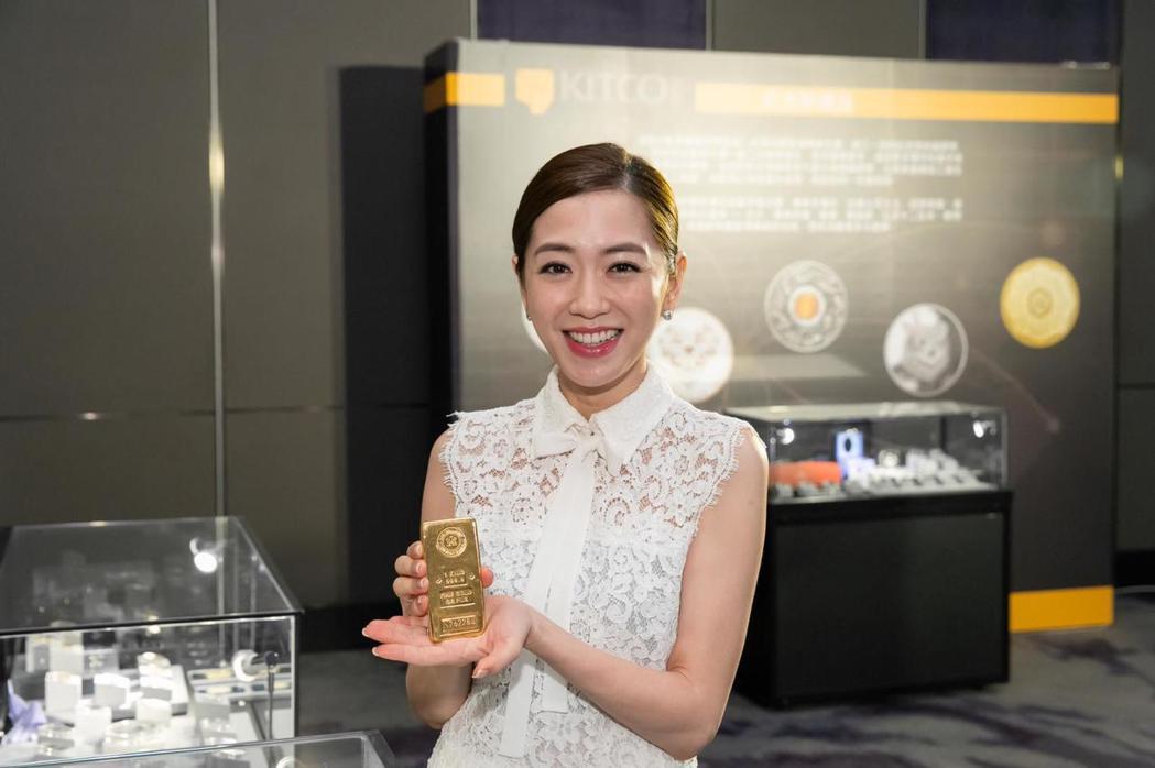 楊千霈今出席實體貴金屬交易企業KITCO金拓登台記者會。圖/布爾喬亞公關顧問提供