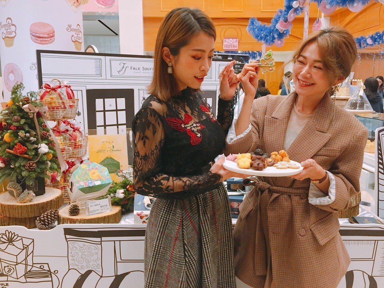 中友百貨「夢幻甜點美食展」今登場。記者趙容萱/攝影