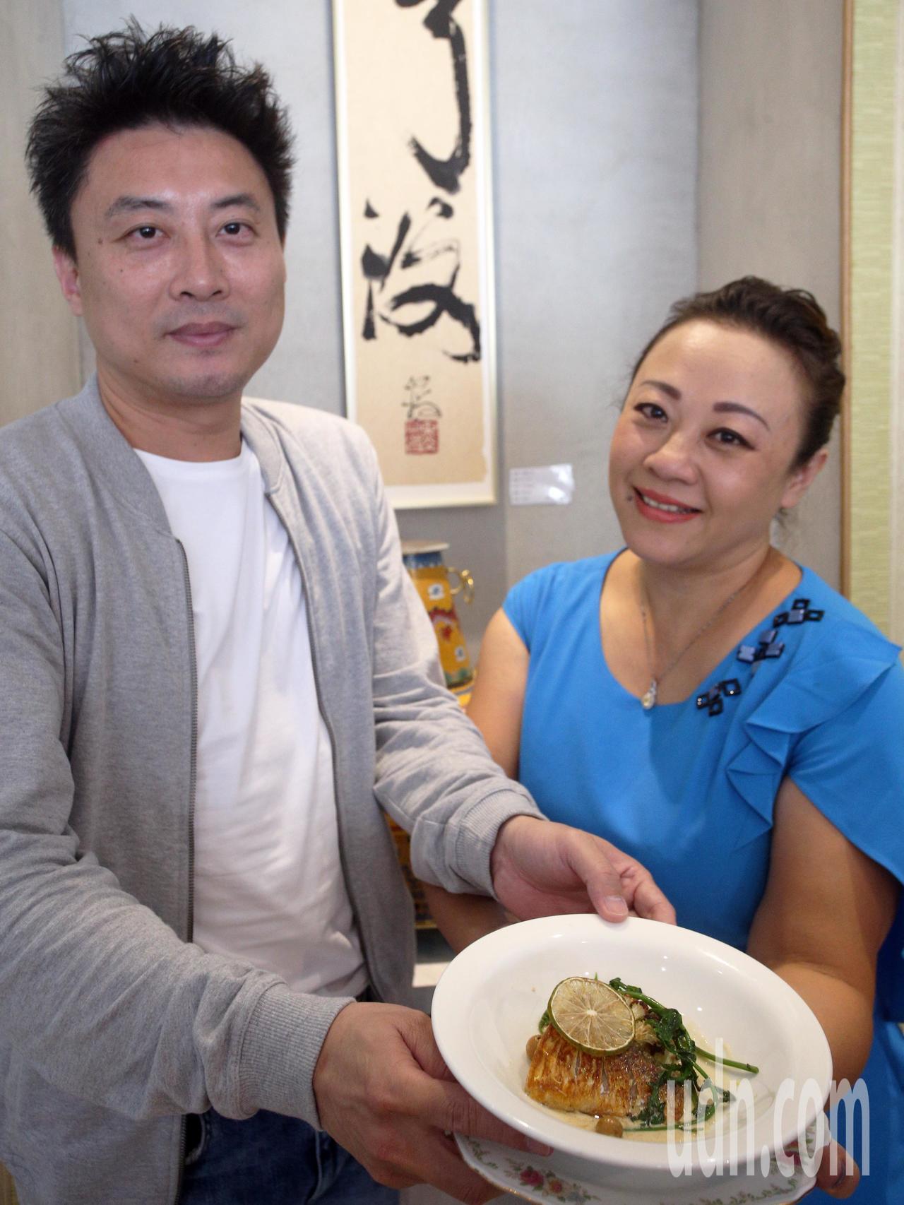 餐飲業者陳南圻(左)與雅樂廚苑創辦者LISA(右)將一起舉辦12場「馥酩宴.食農...