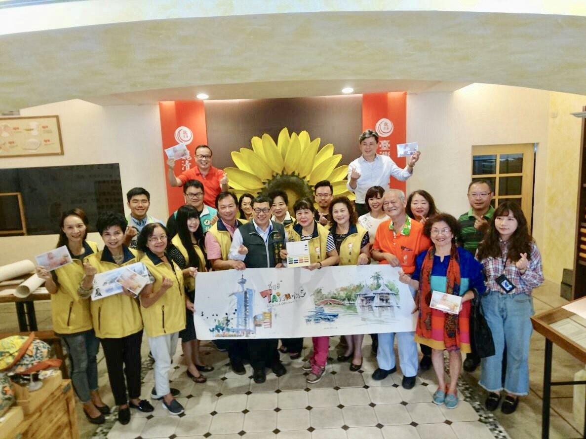 盧安藝術宣布台中市自由路商圈合辦「自由心花朵朵開.商圈公益寫生溫馨趴」活動,呼應...