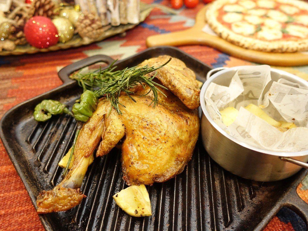 隱藏版菜單惡魔烤半雞,售價380元。記者張芳瑜/攝影