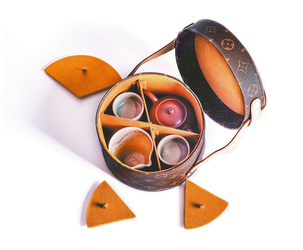 王德傳×路易威登 茶人旅行硬箱B:11件組 圖/各業者提供