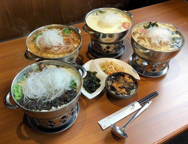 「三屏鍋家」連素食族群也照顧到,推出:牛奶鍋、蕃茄鍋、味噌鍋及海藻素食鍋,海藻專...