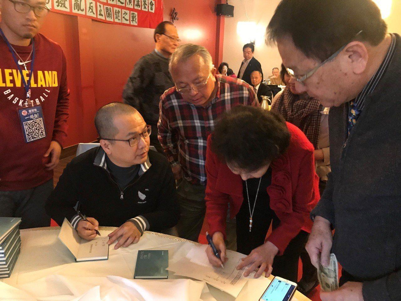 前總統府副祕書長羅智強訪問美國首站芝加哥。 記者黃惠玲/攝影