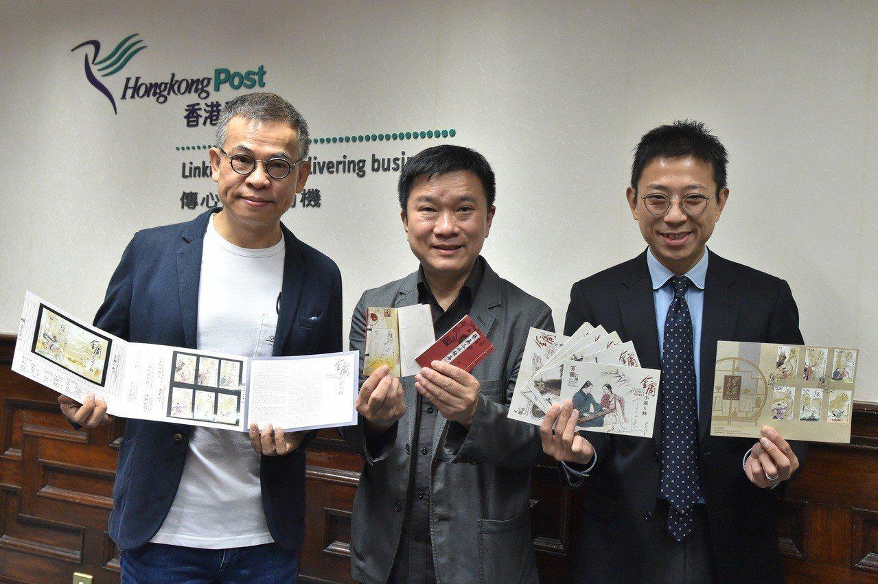 香港金庸郵票開賣1天,因金庸10月30日逝世,讓郵品更加珍稀,價格翻3倍。 中通...