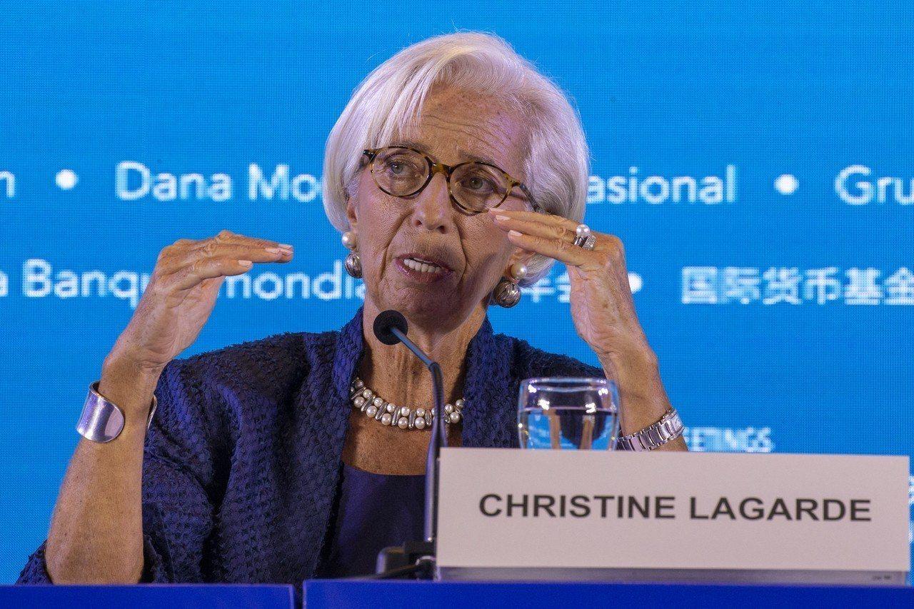 國際貨幣基金(IMF)總裁拉加德(Christine Lagarde)。 歐新社