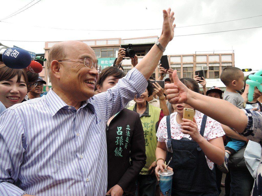 這次九合一大選,蔡英文請蘇貞昌老驥伏櫪,回鍋參選新北市長。聯合報系資料照