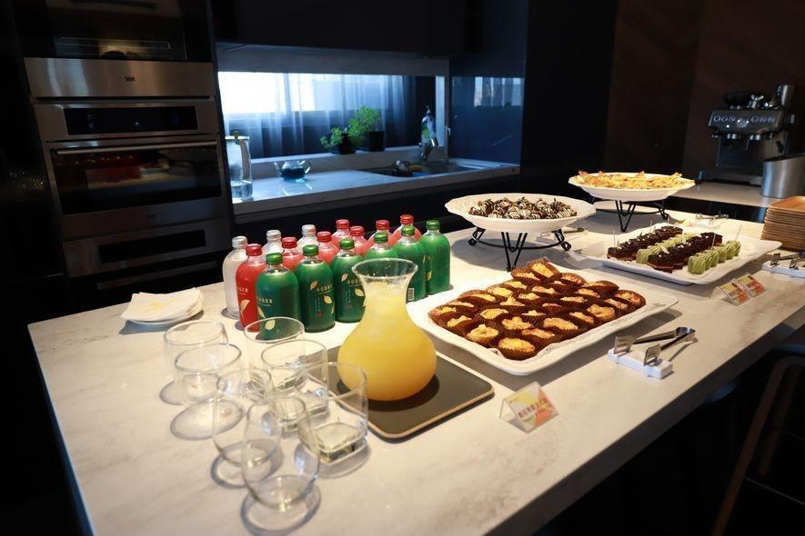 (圖)豐聚設計細心準備了各式精緻餐點,以迎接參訪設計師群的蒞臨。
