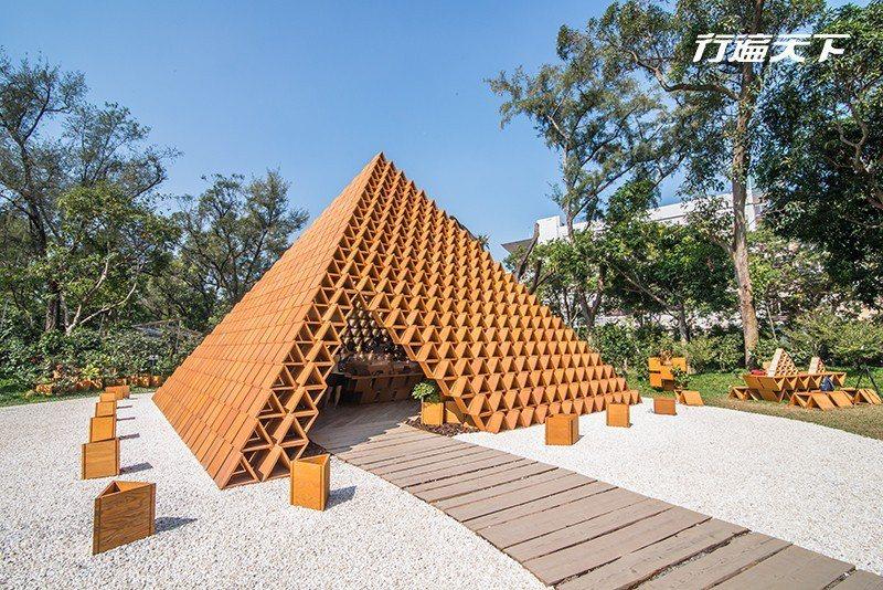 隈研吾的創作「台開築空間積木概念館」。  攝影|行遍天下