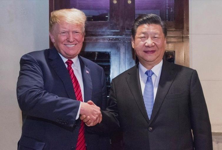 英國金融時報報導,中國國家主席習近平(右)1日與美國總統川普會晤前,早知道華為副...