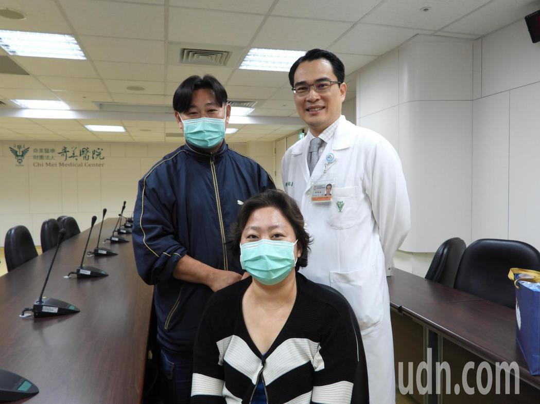 全台首例乳癌轉移腦部麥姓患者,經兩個多月治療持續康復。記者周宗禎/攝影