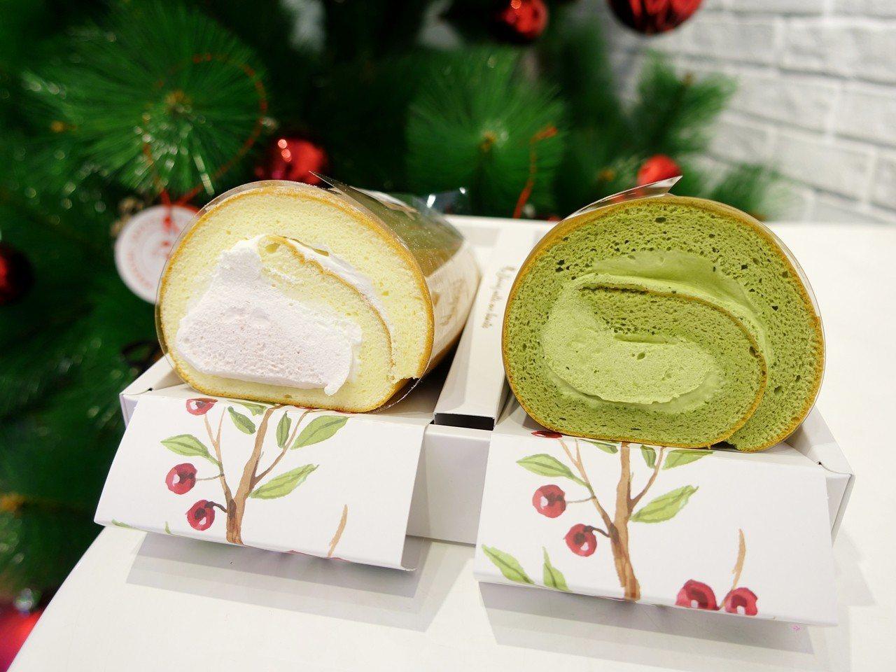 生乳捲雙捲禮盒(草莓雙漩+靜岡抹茶),售價555元。記者張芳瑜/攝影