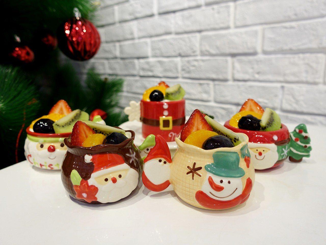 耶誕點心杯,售價179元。記者張芳瑜/攝影