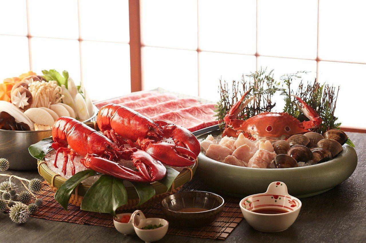 使用多種海陸食材的桃山海陸火鍋,8800元。圖/喜來登提供