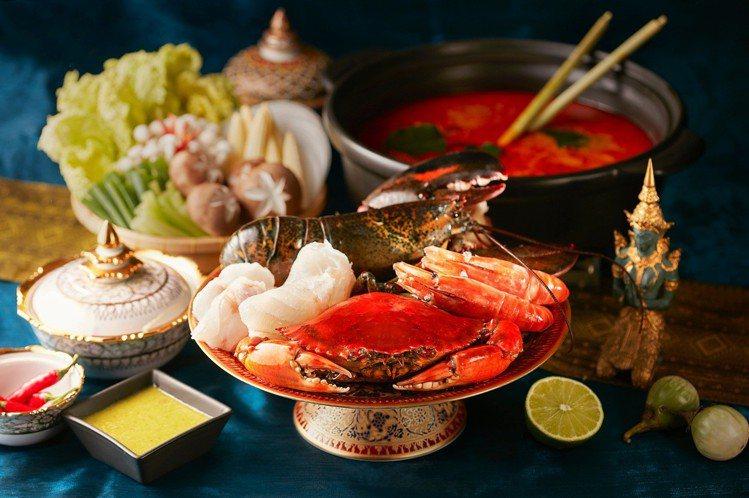 SUKHOTHAI所推出的泰式珍饌海鮮鍋,每份5,800元。圖/喜來登提供