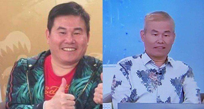 劉俊耀八月在購物台時就已滿頭白髮。圖/摘自擎天傳媒、狄志偉臉書