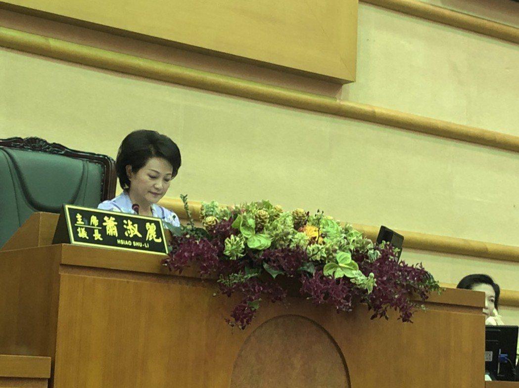 選後上班日,參選嘉義市長落敗的議長蕭淑麗主持議會定期會。 圖∕聯合報系資料照片
